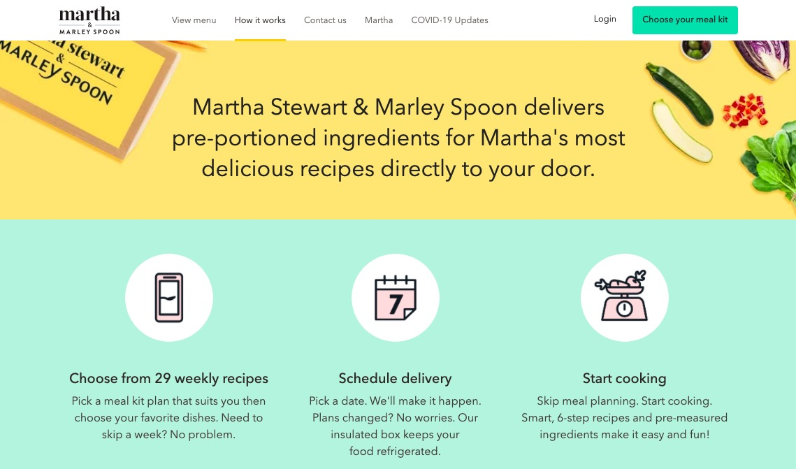 Martha and Marley Spoon deliver