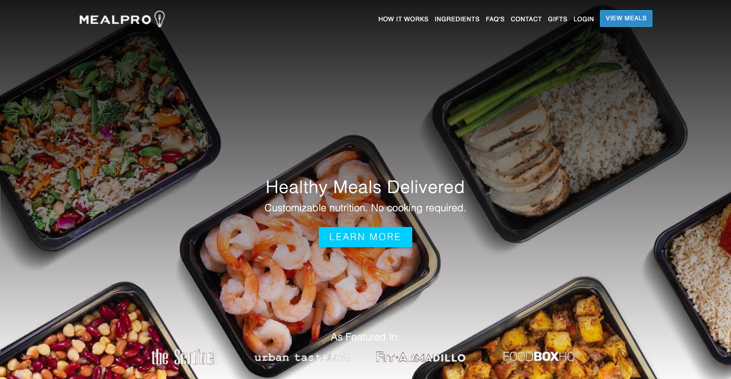 Meal Pro main page